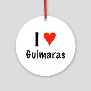 I love Guimaras Ornament (Round)