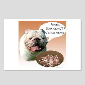 Bulldog Turkey Postcards (Package of 8)