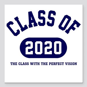 """Class of 2020 Square Car Magnet 3"""" x 3"""""""