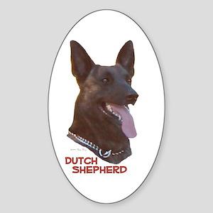 Dutch Shepherd Oval Sticker
