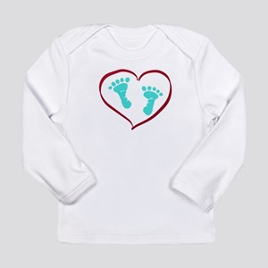 Baby feet in heart by lh Long Sleeve T-Shirt