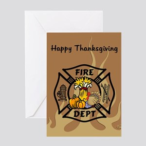 Firefighter Thanksgiving Greeting Card