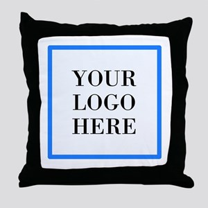 Your Logo Here Throw Pillow