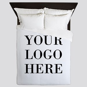 Your Logo Here Queen Duvet