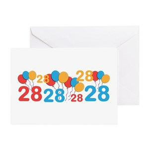 Happy Birthday 28 Years Old Home Outdoor Greeting Cards