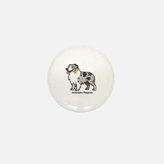 Cute Australian shepherds Mini Button