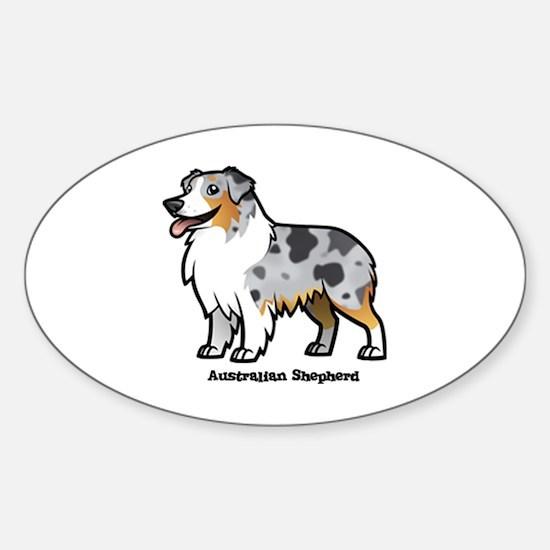 Cute Love shepherd Sticker (Oval)