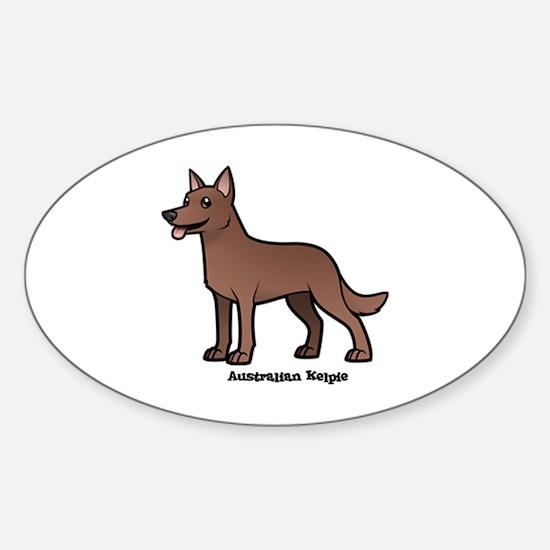 Cute Kelpie Sticker (Oval)