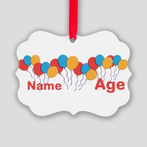 CUSTOMIZE NAME and AGE Birthday Ornament