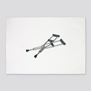 MetalCrutches082010 5'x7'Area Rug