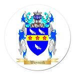 Waymark Round Car Magnet