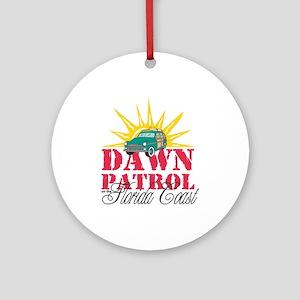 Dawn Patrol on the Florida Coast Round Ornament