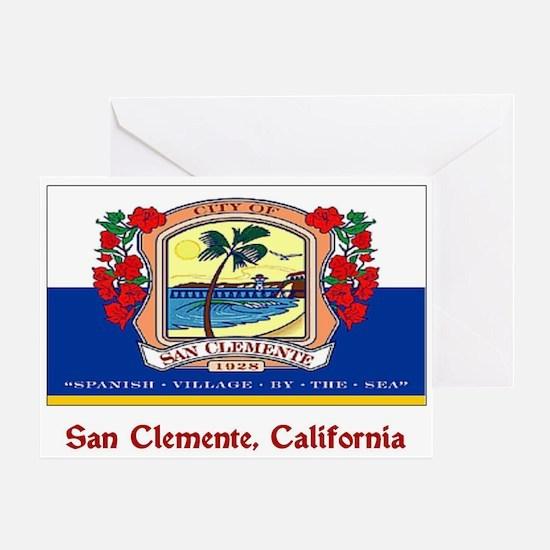 San Clemente CA Flag Greeting Card
