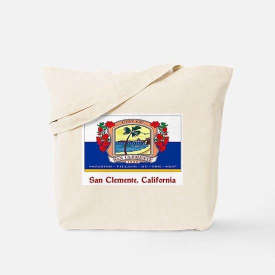 San Clemente CA Flag Tote Bag