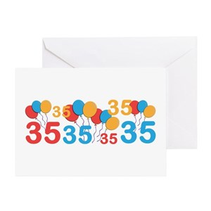 35 Years Old Greeting Cards