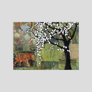 Tree of Life with Elephant 5'x7'Area Rug