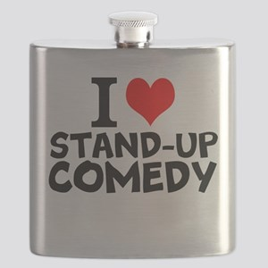 I Love Stand-up Comedy Flask