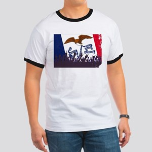 Iowa State Flag with Audience T-Shirt