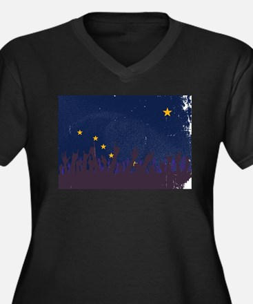 Alaska State Flag with Audience Plus Size T-Shirt