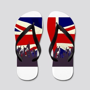 England State Flag with Audience Flip Flops