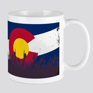 Colorado State Flag with Audience Mugs