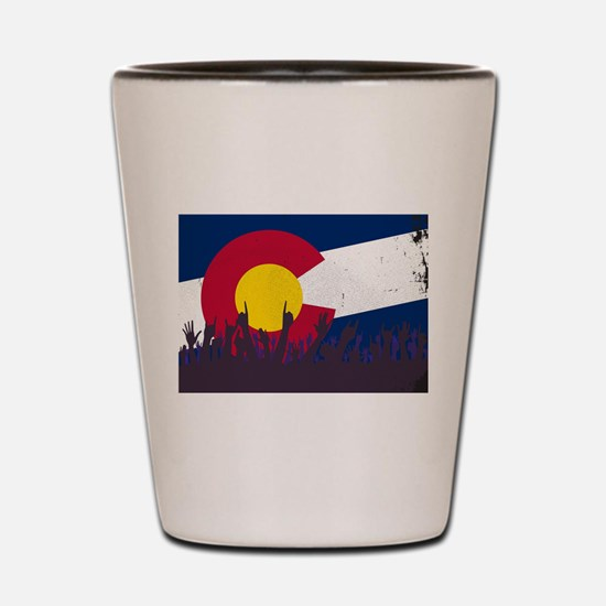 Colorado State Flag with Audience Shot Glass