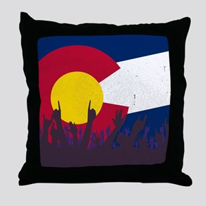 Colorado State Flag with Audience Throw Pillow