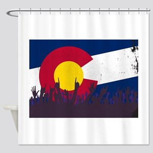 Colorado State Flag with Audience Shower Curtain
