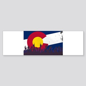 Colorado State Flag with Audience Bumper Sticker