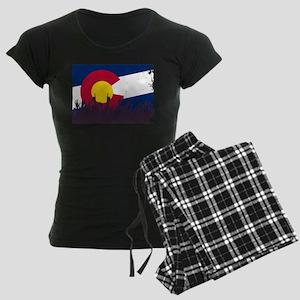 Colorado State Flag with Aud Women's Dark Pajamas