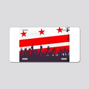 Washington DC Flag with Aud Aluminum License Plate
