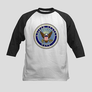 Navy-Logo-9 Baseball Jersey