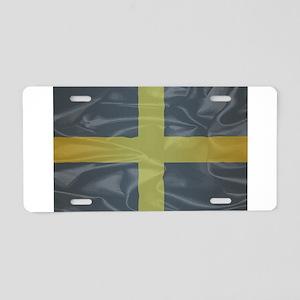 Silk Flag of Saint David Of Aluminum License Plate