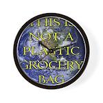 Not a Plastic Bag Wall Clock