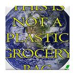 Not a Plastic Bag Tile Coaster