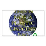 Not a Plastic Bag Rectangle Sticker