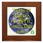 Not a Plastic Bag Framed Tile