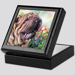 Shar Pei Painting Keepsake Box