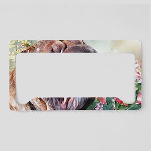 Shar Pei Painting License Plate Holder