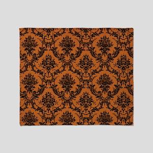 Victorian Wallpaper Throw Blanket