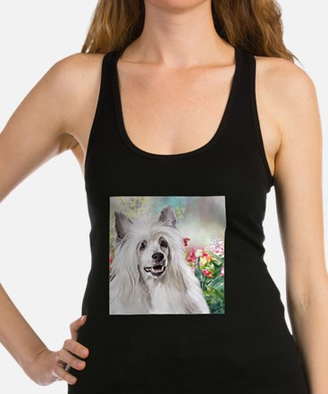 Chinese Crested Painting Racerback Tank Top