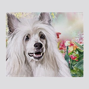 Chinese Crested Painting Throw Blanket
