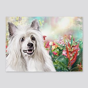 Chinese Crested Painting 5'x7'Area Rug