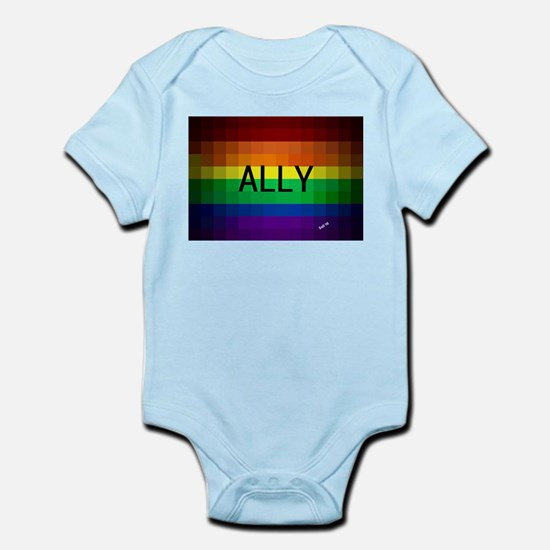 Ally gay rainbow art Body Suit