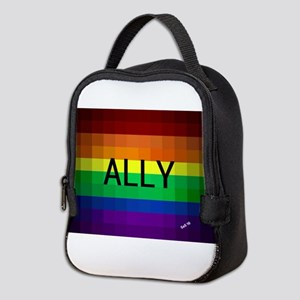 Ally gay rainbow art Neoprene Lunch Bag