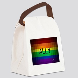 Ally gay rainbow art Canvas Lunch Bag