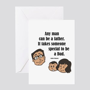 Being a dad Greeting Card