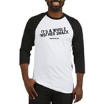 Whole Nother Snack White Baseball Jersey