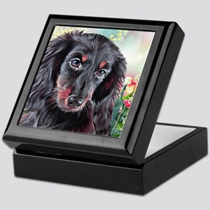 Dachshund Painting Keepsake Box