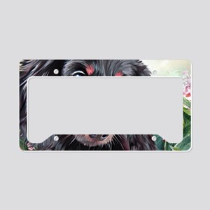 Dachshund Painting License Plate Holder